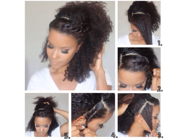 Double-Twisted Ponytail