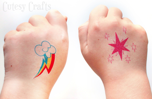 31 outrageously adorable 39 my little pony 39 party ideas for Little kid tattoos