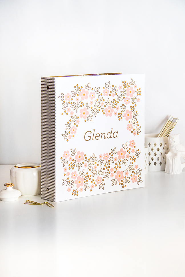 PERSONALIZED Floral Patterned Binder - Secret Garden