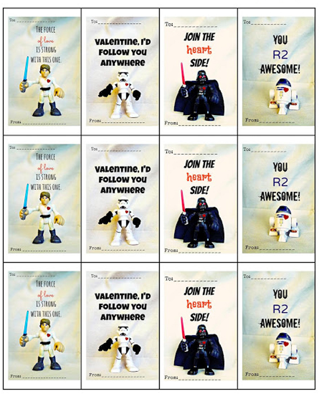 photo regarding Star Wars Printable Card referred to as 14 No cost Printable Star Wars Valentines for Small children Clrooms