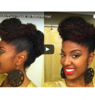 Easy Updo/Faux Hawk on Natural Hair