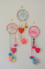 Wool and Feather Dream Catchers