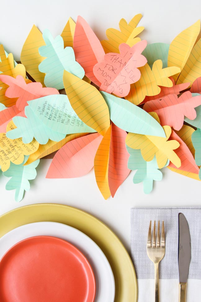 Paper Leaf Table Runner