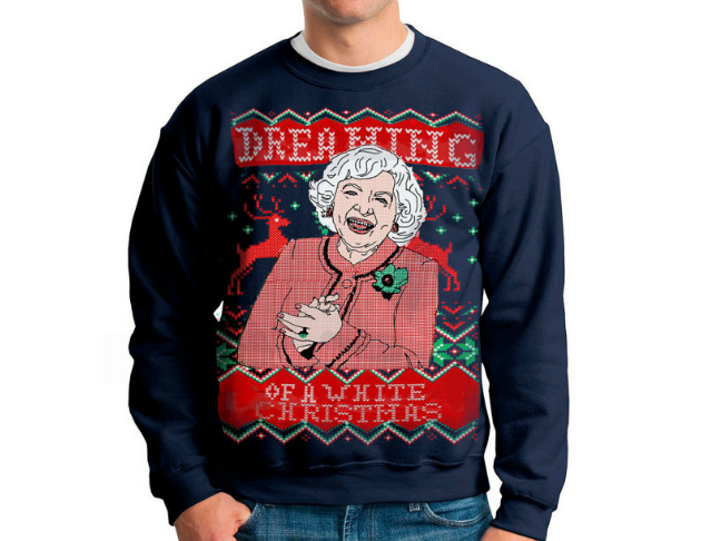 the betty white sweater - Hilarious Ugly Christmas Sweaters