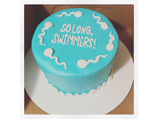 So Long Swimmers Vasectomy Cake